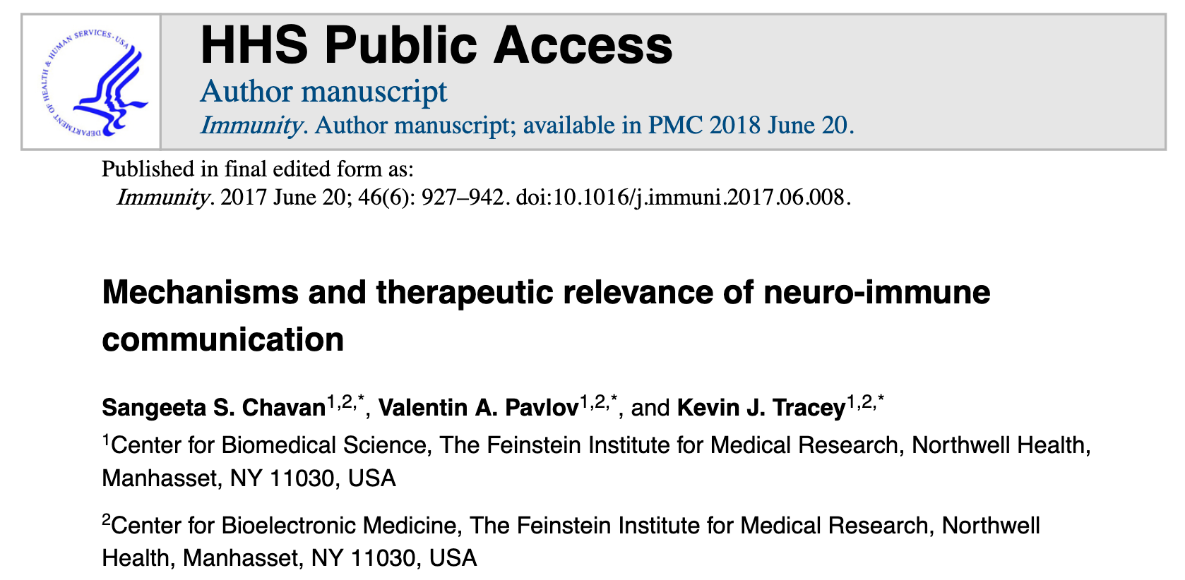 MECHANISMS AND THERAPEUTIC RELEVANCE OF NEURO IMMUNE COMMUNICATION
